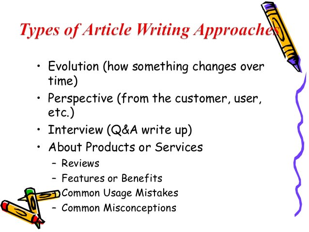 good articles to write about