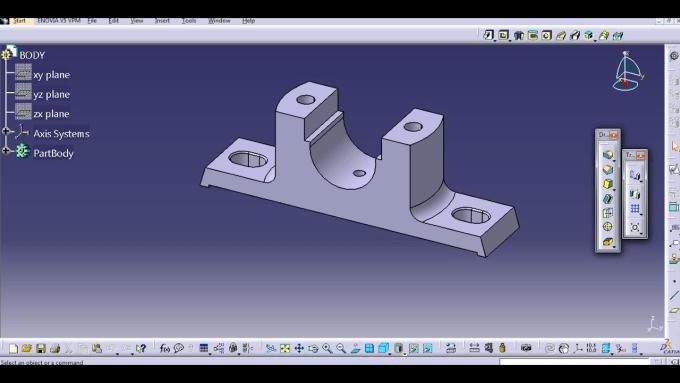 make 2d 3d drawings of machine design using catia v5