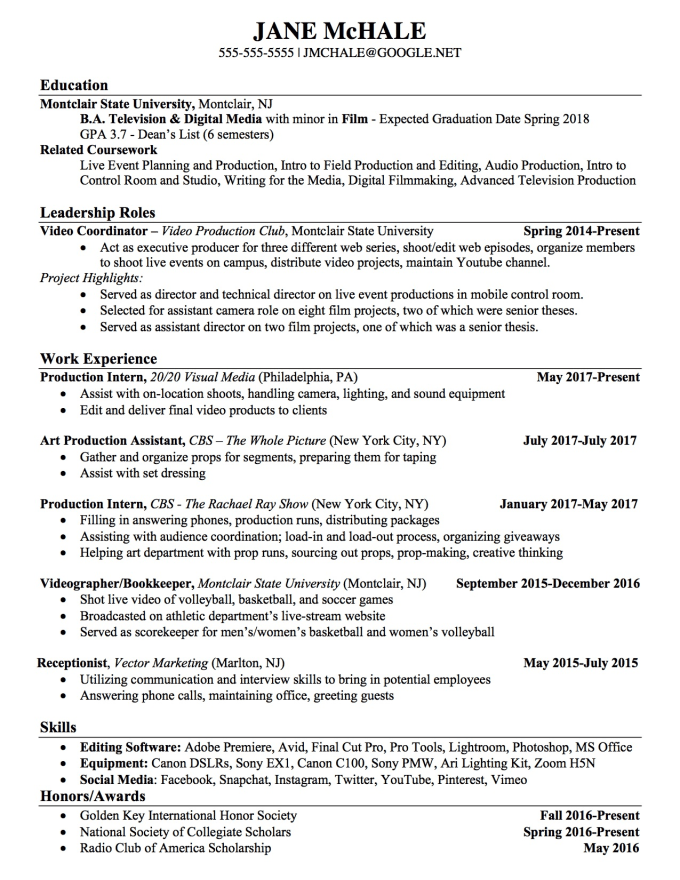 create or edit your resume