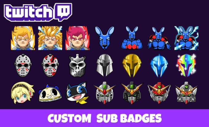 design amazing twitch sub badge with my original style