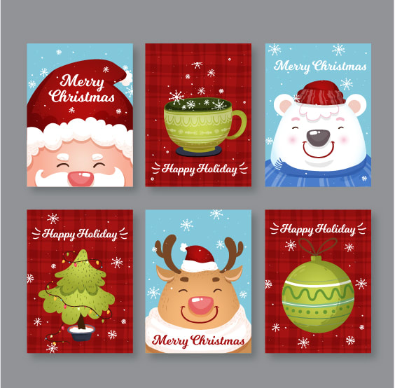 Christmas Gift Card Poster.Design Christmas Gift Cards Sales Banner Poster Etc