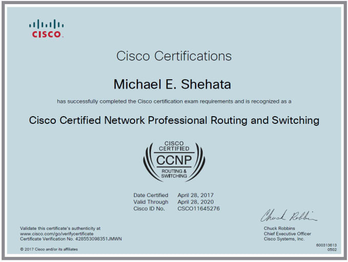 provide ccna ccnp training with real equipment or gns3