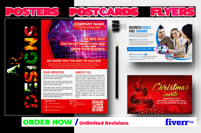 Design A Modern And Appealing Flyers And Postcards
