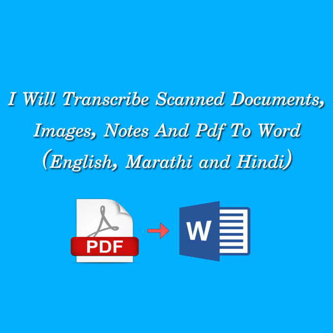 kuldip852 : I will type 15 pages of pdf, images or hand written into ms  word for $5 on www fiverr com