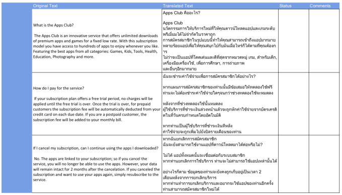 translate english to thai up to 600 words