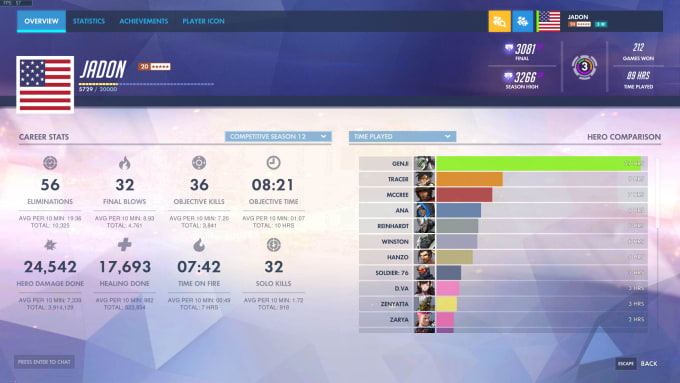 jadon83 : I will coach low elo players in overwatch to get out of elo hell  for $10 on www fiverr com