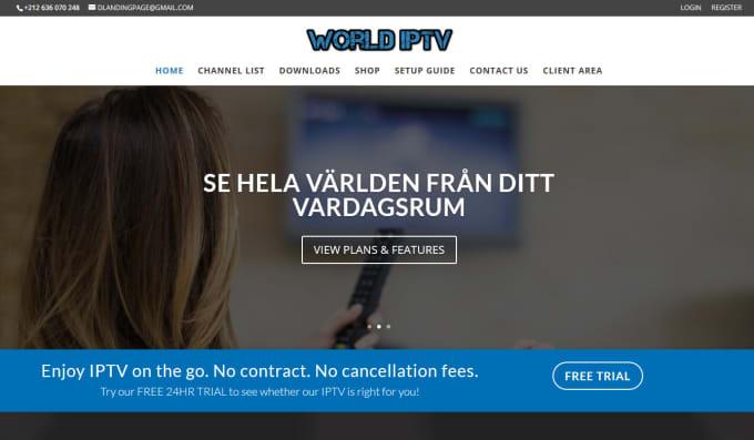 create iptv website for reseller