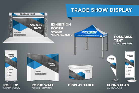 Exhibition Booth Backdrop : Make backdrop standee tent banners booth display table by