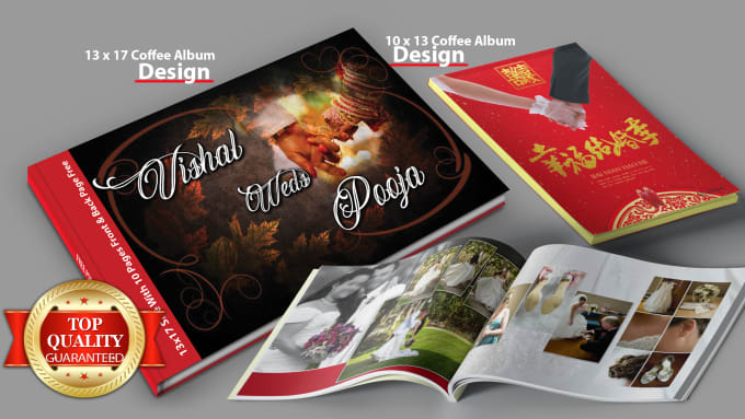 Graphic Design In Wedding Album Cover For You By Atifsikandar