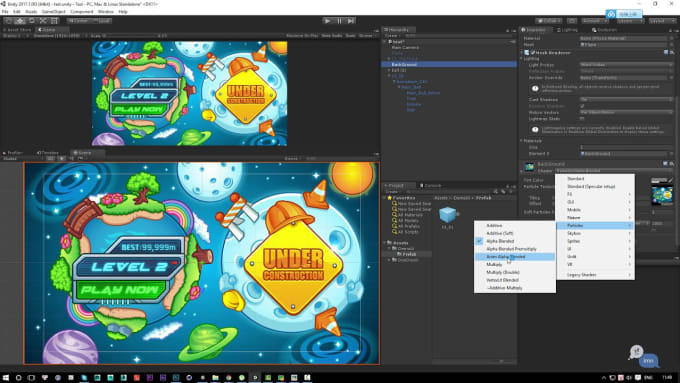 make unity games UI animations for you