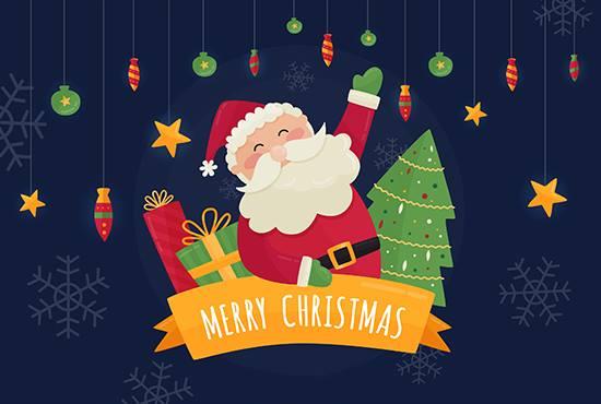 Design Awesome Christmas Invitation Greetings Postcard