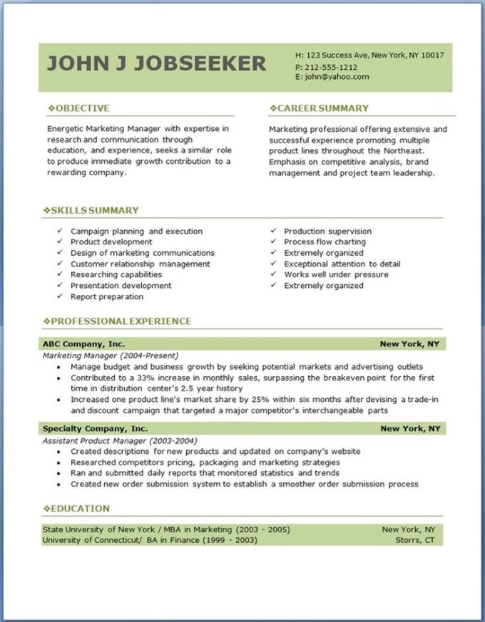 Create A Resume That S You Job Offers