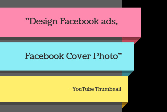 anjuman7 : I will design facebook ads and youtube thumbnail for $10 on  www fiverr com