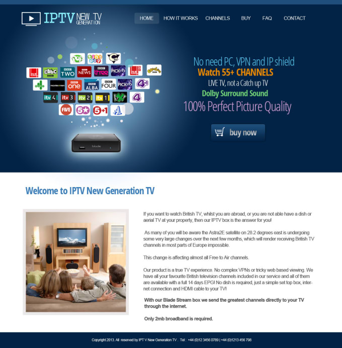 create website for ip tv resellers