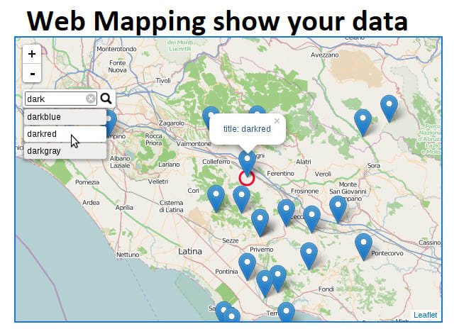 Develop web map using javascript mapping liry leaflet ol ... on map united states block, map marker, map symbols,