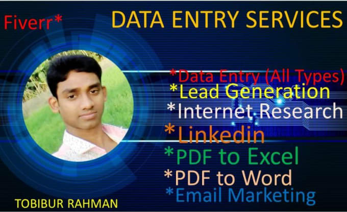 complete all types of large data entry work