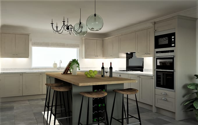 Create Your Kitchen Design In 3d High Quality Renders By Niallbryson