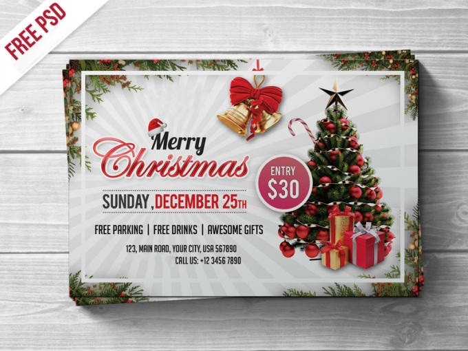 create an outstanding christmas new year invitation