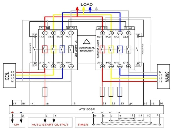 Design electrical wiring diagram and panel design by Rambanu how to wire a breaker Fiverr