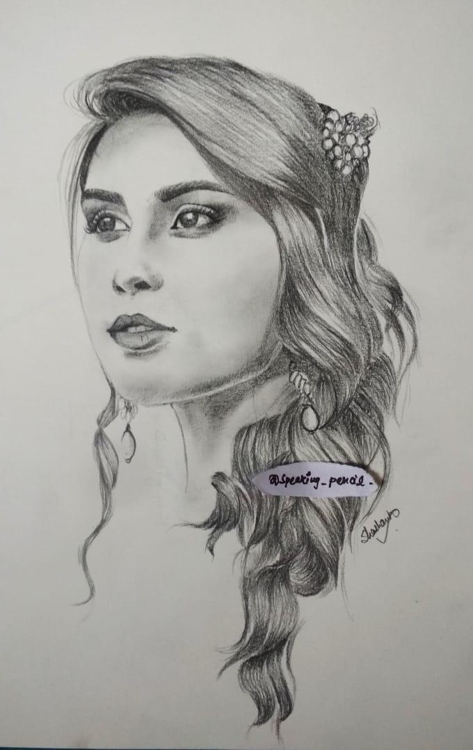 Ilustraciones femeninas  - Página 14 Do-portrait-sketch-and-logo-design