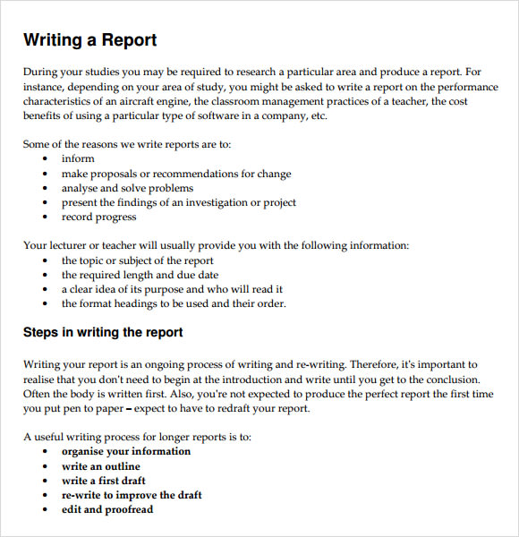 How to write a business report