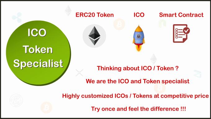 create ico and token in ethereum blockchain