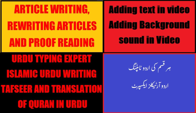 naumanasghar : I will write articles for you in english and type urdu for  you for $5 on www fiverr com