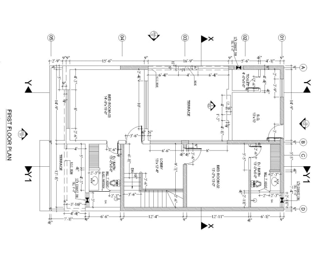 Do an architectural floor plan drawings