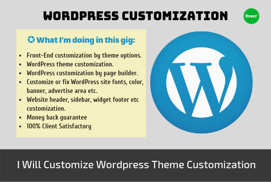 customize wordpress, fix wp error and website very fast