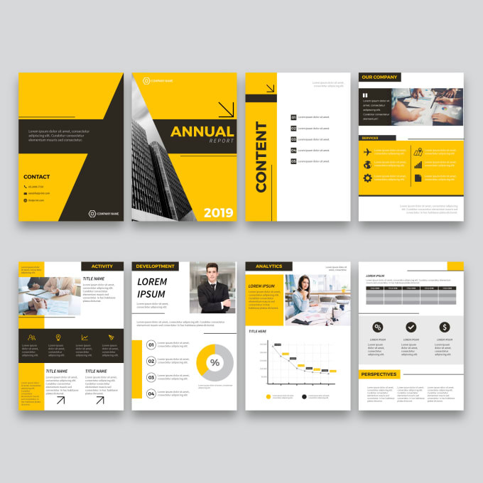 Do Design Annual Report Or Business Proposal In 14hrs By