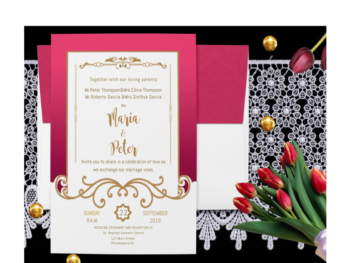 Design Unique Wedding Invitation Card In 24 Hrs By Jadgraphics