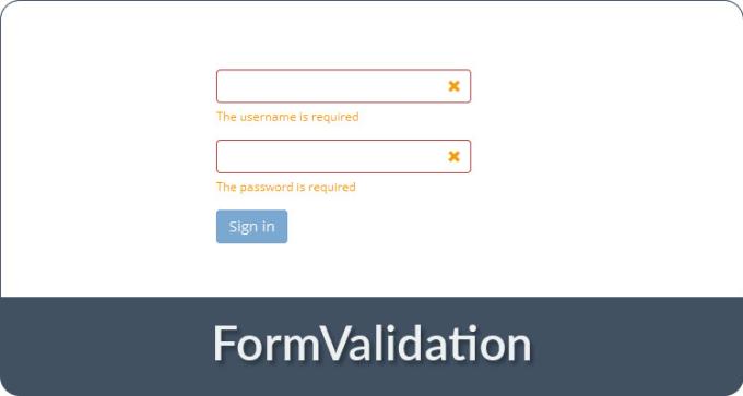 do any HTML form validation using javascript