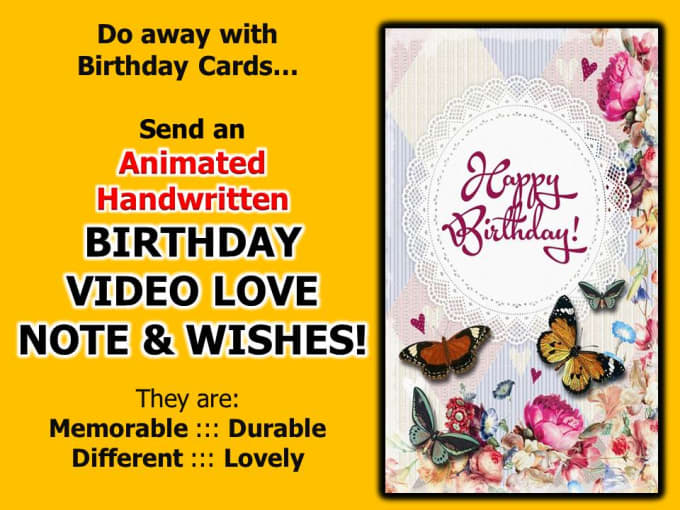 Do Animated Handwritten Birthday Video Love Note And Wishes By