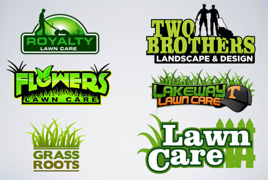 lawn care modern landscape custom logo design by davidmark24