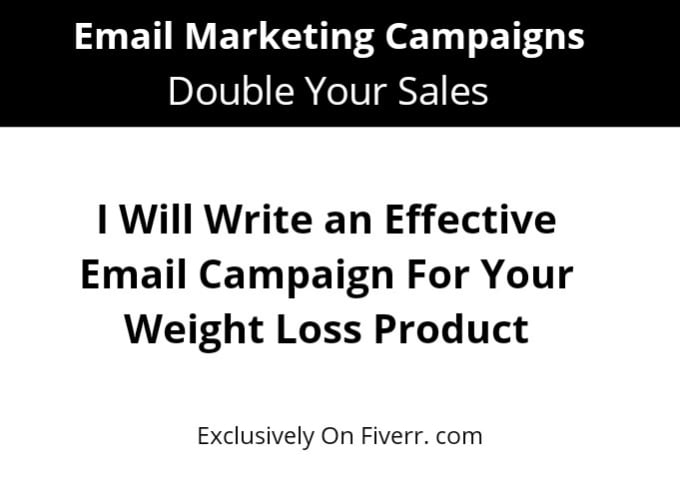 Write For Your Weight Loss Email Campaign By Enpetal