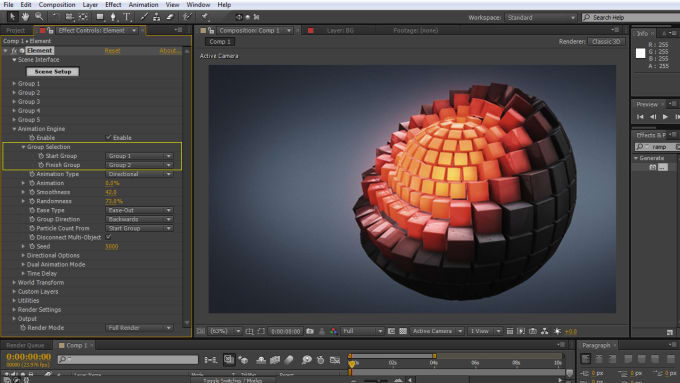 do animation and motion graphics in after effects