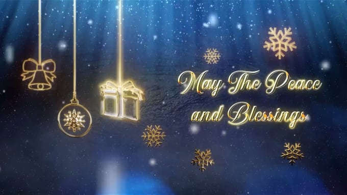 Christmas And New Year Wishes.Create Christmas And New Year Wishes Video
