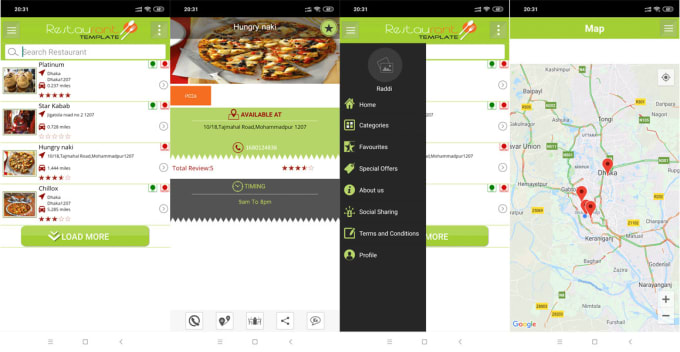 Do Restaurant Finder With Backend Android Full App