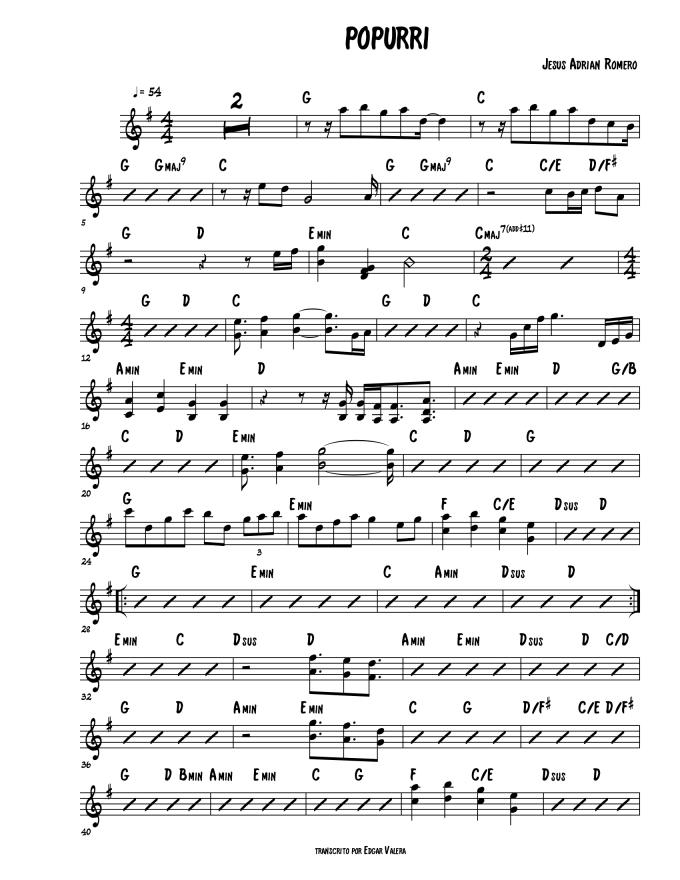 Create a chord chart or transcribe sheet music by Edgar_vl