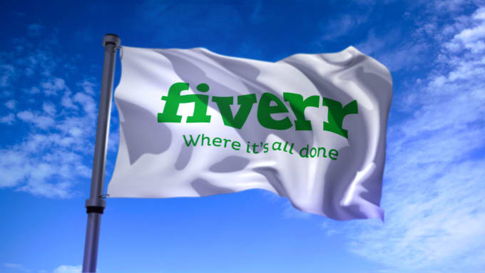create a 3d waving flag animation from any image or logo