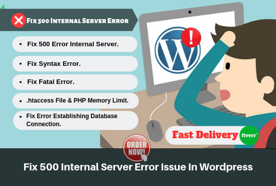 nishatmia : I will fix 500 internal server error in wordpress website for  $5 on www fiverr com
