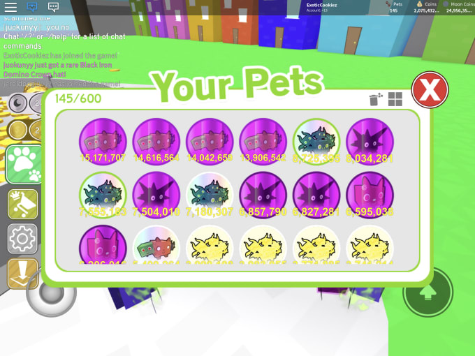 you will get a pet in pet simulator roblox your choice