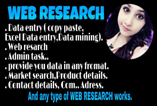 supriya_mughal : I will do data entry,web search,data mining and copy paste  data entry etc for $5 on www fiverr com