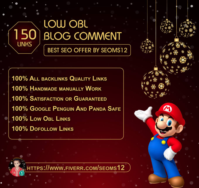 do 150 dofollow blogs comment with low obl