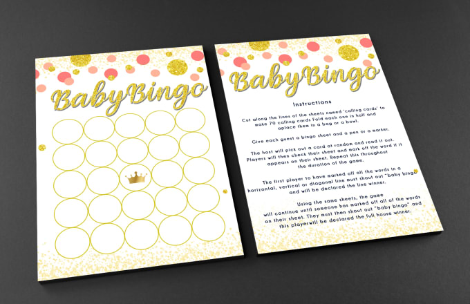 create custom bridal shower and baby shower games