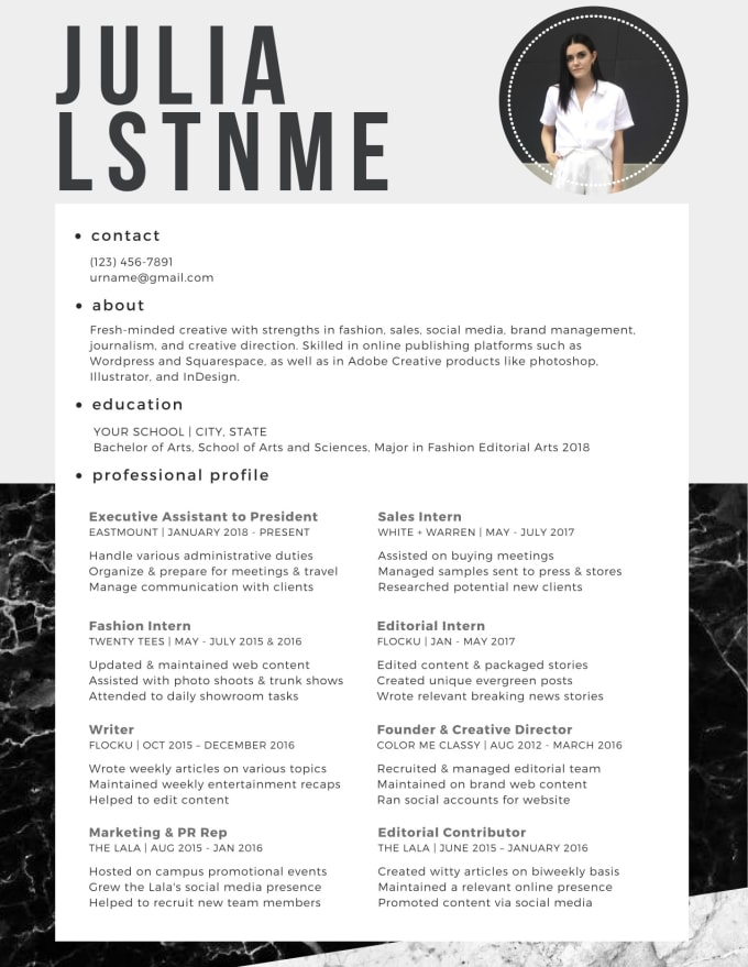 design and write your resume and or cover letter