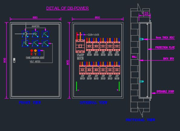 Draw Electrical Shop Drawings Of Panel And Db By