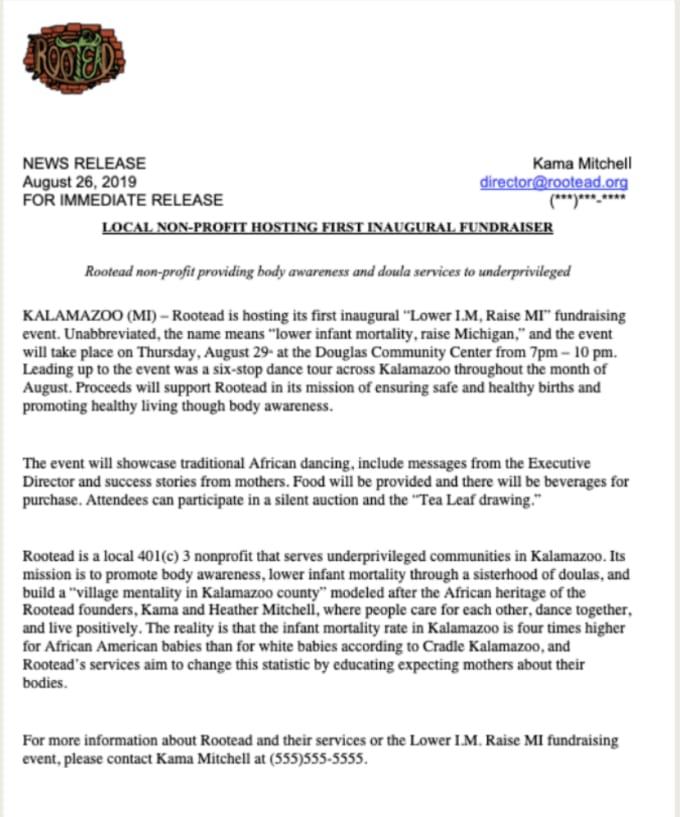 professional press release - Parfu kaptanband co