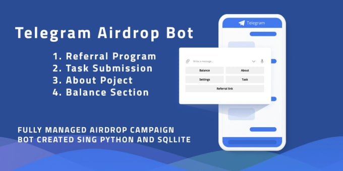 create airdrop referral bot and run for your ico