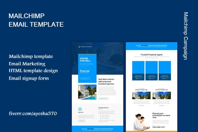 Mailchimp Email Templates | Set Up Mailchimp Email Campaign And Design Email Template By Ayesha570